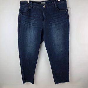 Wit & Wisdom studded ankle jeans